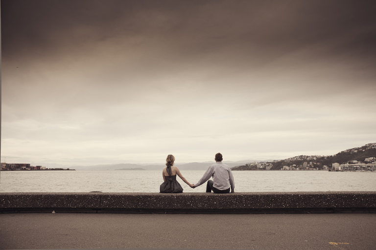 Wellington Waterfront Engagement Photography ©Mary Sylvia Photography Ltd  003