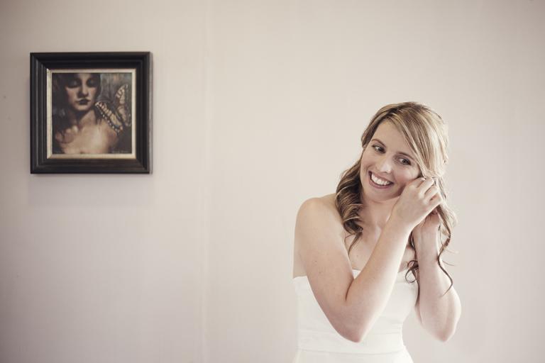 Bride earrings © Mary Sylvia Photography