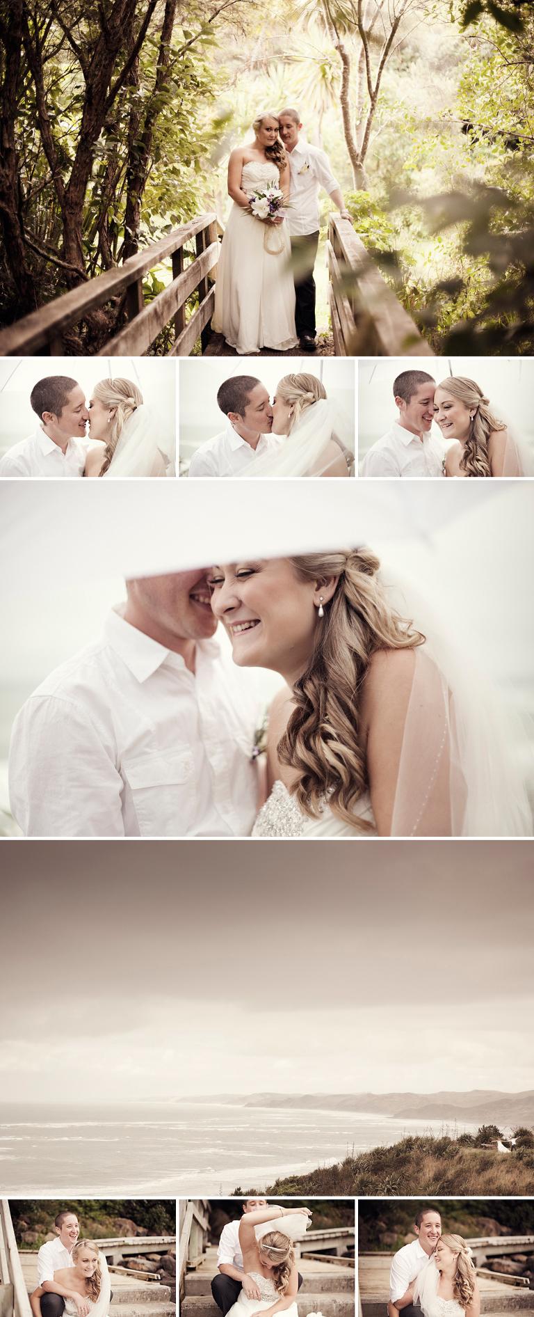 Raglan Beach Wedding Photography - creative portraits