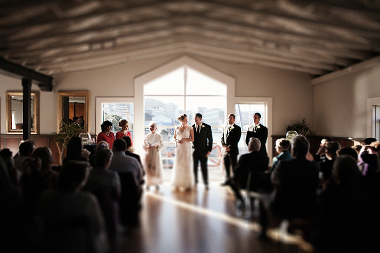 Wellington wedding ceremony