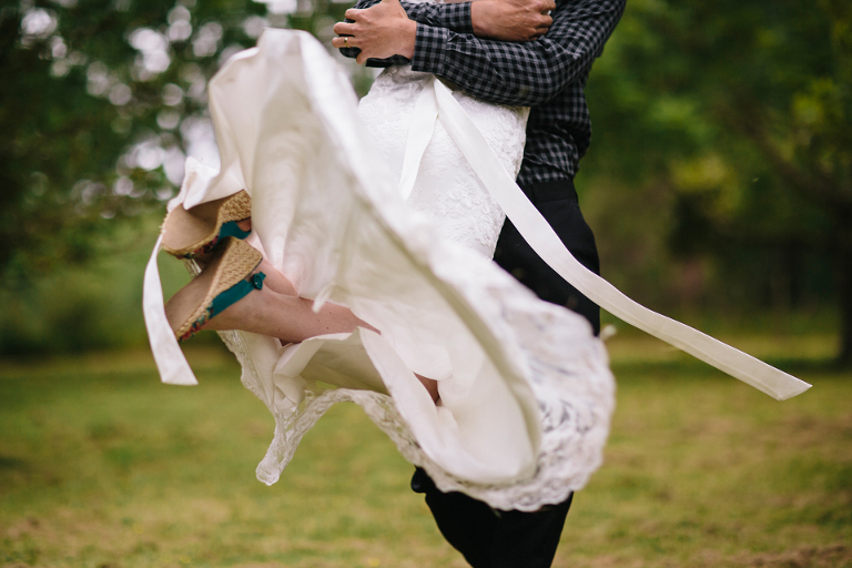Spinning and twirling around Rustic farm wedding photography