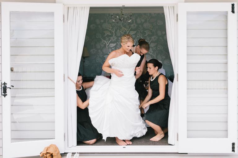 Te Horo Sudbury's Bride getting ready