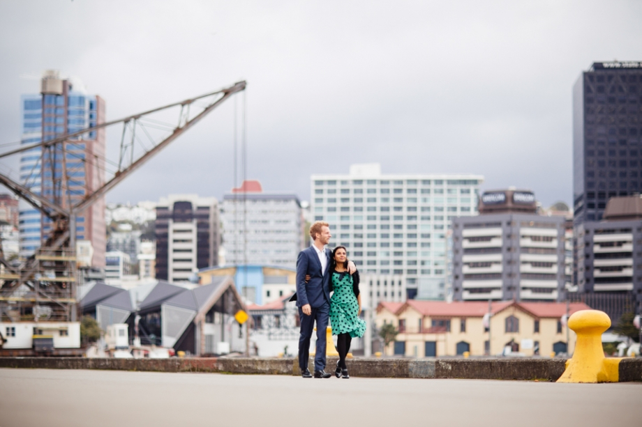 Wellington Waterfront Engagement Photography