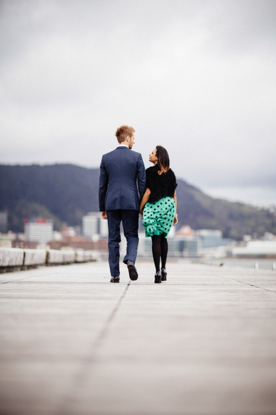 Wellington Waterfront Jetty Engagement Photography