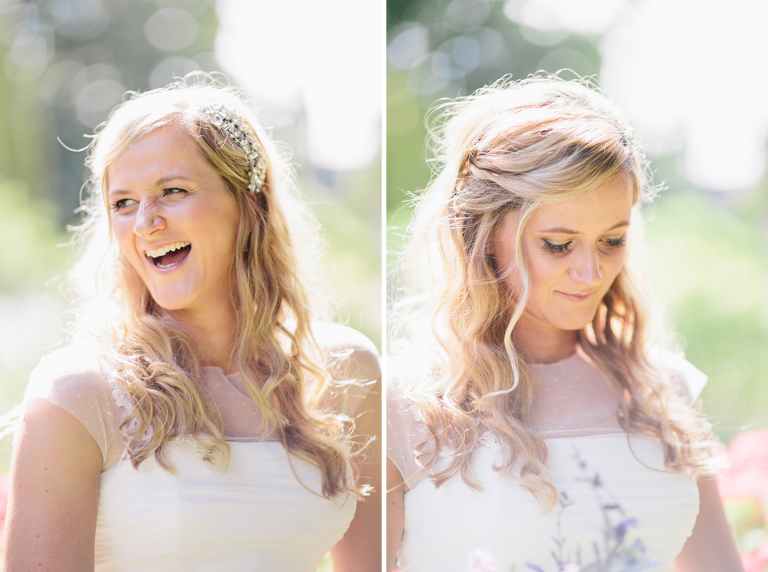 Bridal hair and makeup long blonde hair