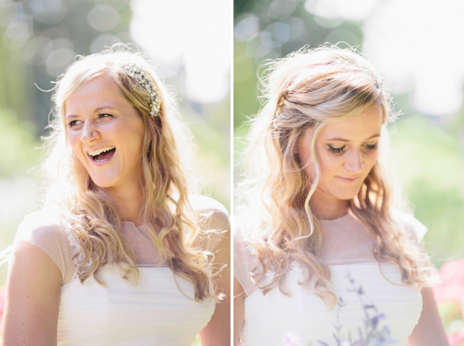 Bridal hair and makeup long blonde hair