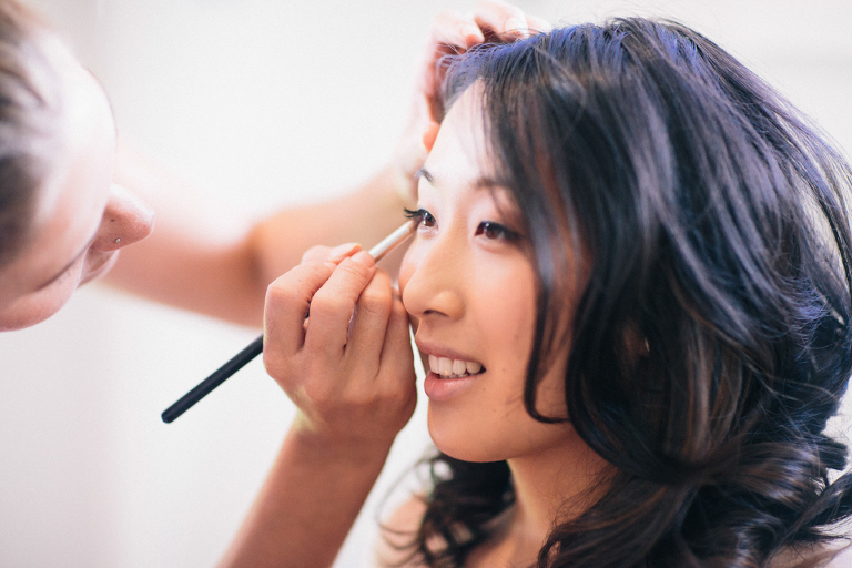 Bridesmaid makeup artist photo