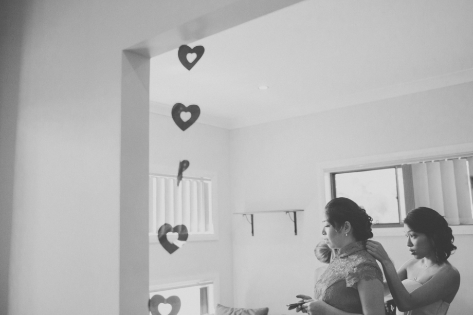 Love hearts wedding day getting ready