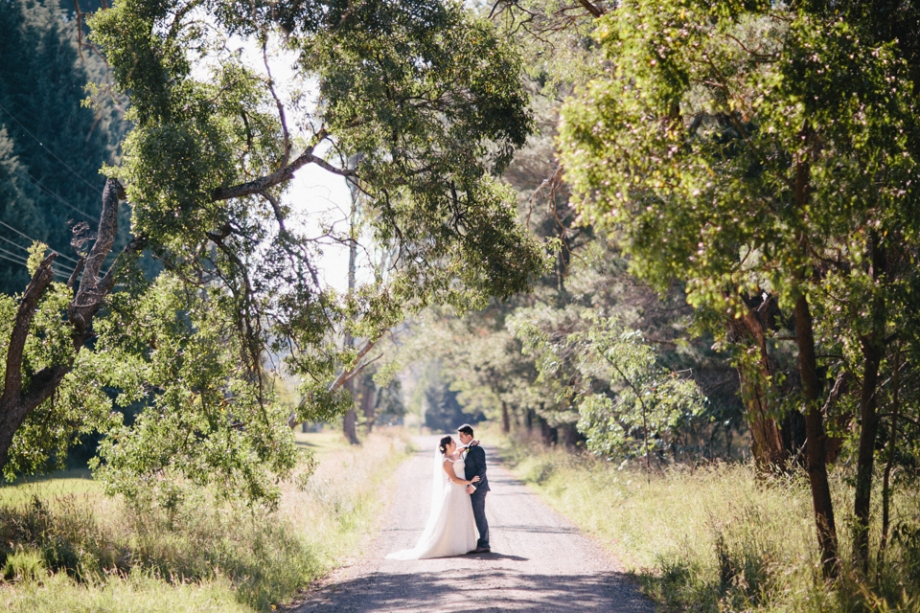 Country road wedding photography