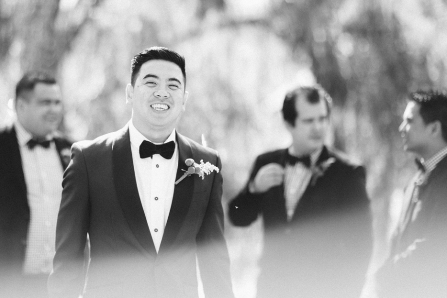 Groom and groomsmen black and white photography