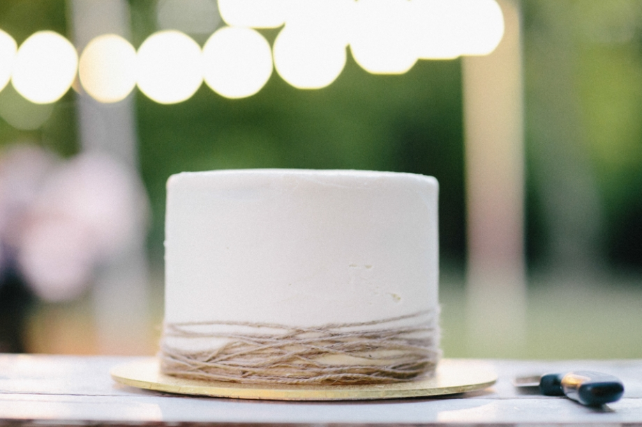 Wedding cake with simple twine vintage look