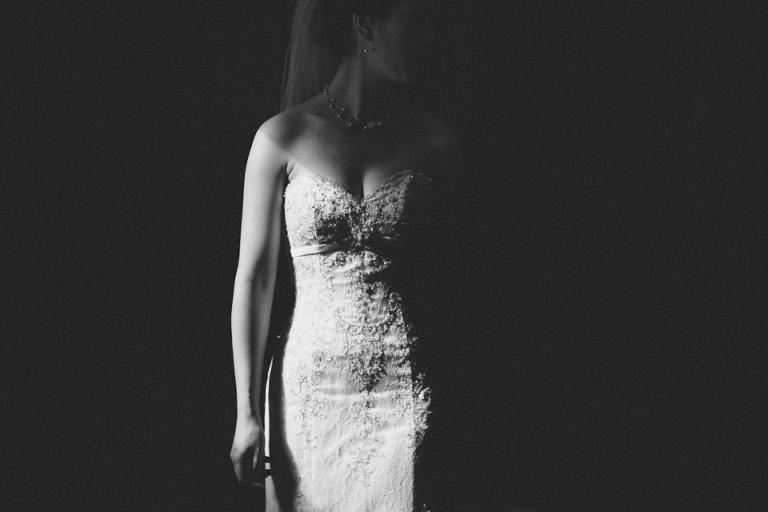 Black and white bridal photography wellington