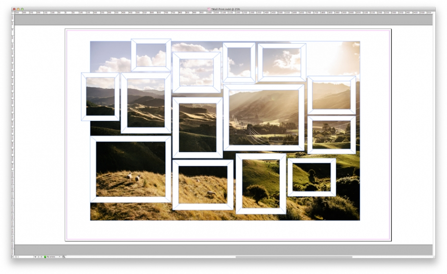 Indesign Wall print template fake window DIY