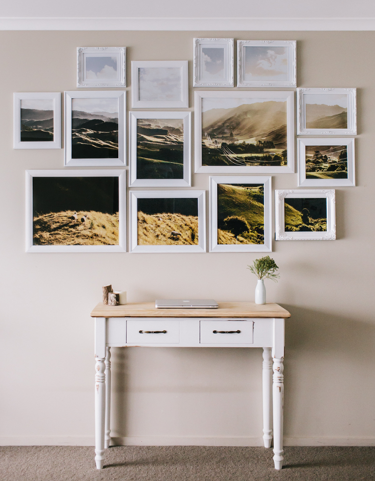 Faux window using photo frames and Indesign