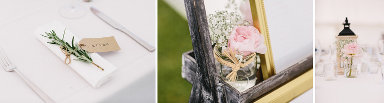 wedding details flowers and rosemary Riversdale Wedding natural light